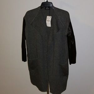 NWT  Zara Womens knit overcoat